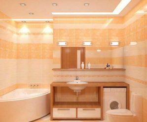 Освещение ванной комнаты, правильное расположенные ламп по уровням!