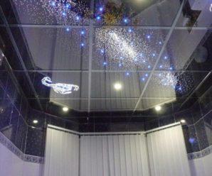 Зеркальный натяжной потолок в квартире, установка, фото!