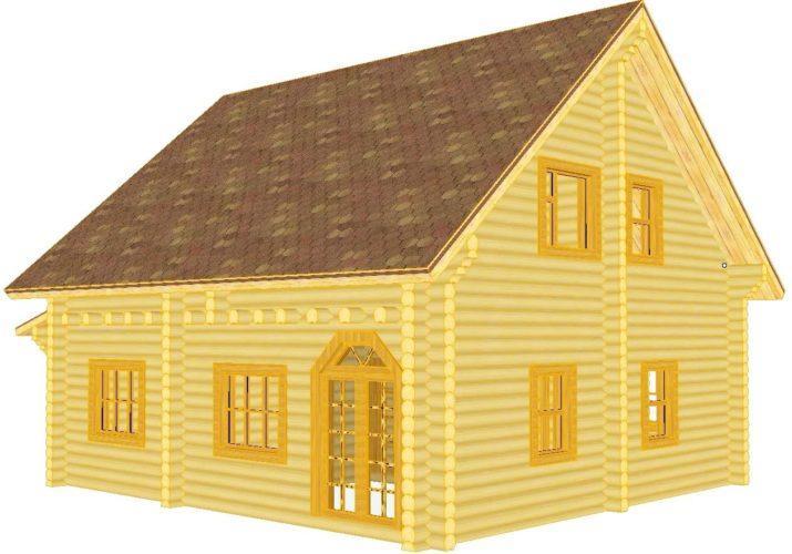 Пример брусового домика