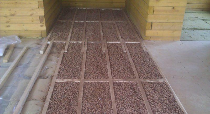 Керамзит утепление пола в деревянном доме.