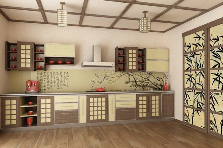 Интерьер кухни в японском стиле фото