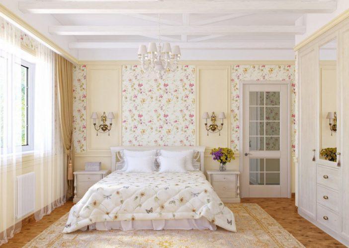 Фото спальной в стиле прованс