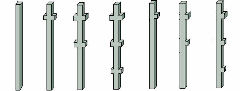 На фото показаны железобетонные опорные изделия
