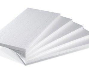 Сколько пенопласта в упаковке – таблица.