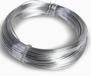 Вес стальной проволоки: Гладкой В-1 и рифленой ВР-1.