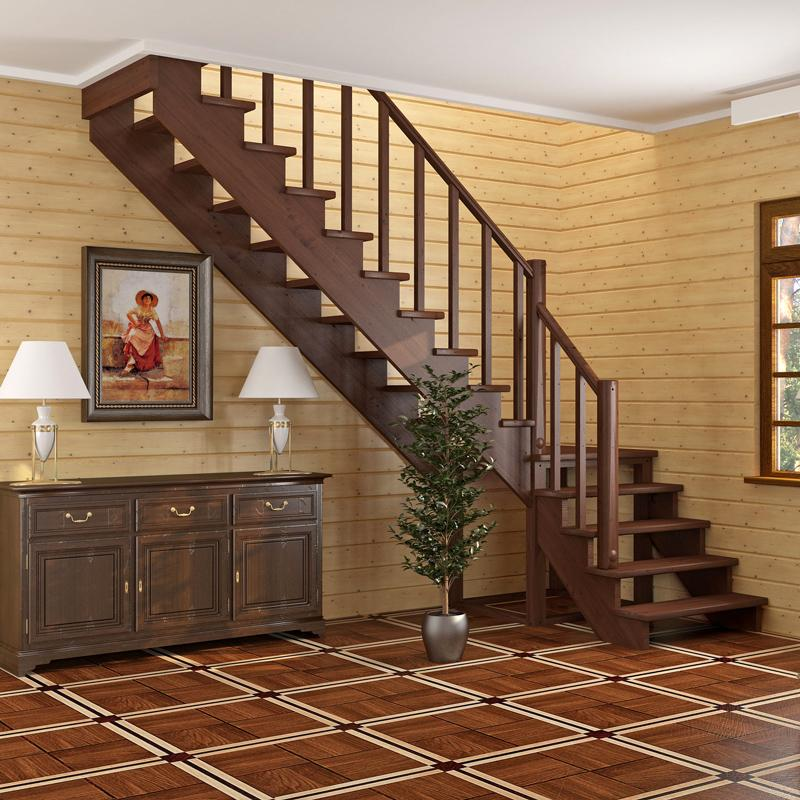 На фото показана лестница с дуба.