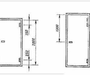 Стандартный размер дверей в ванную комнату (туалет)!