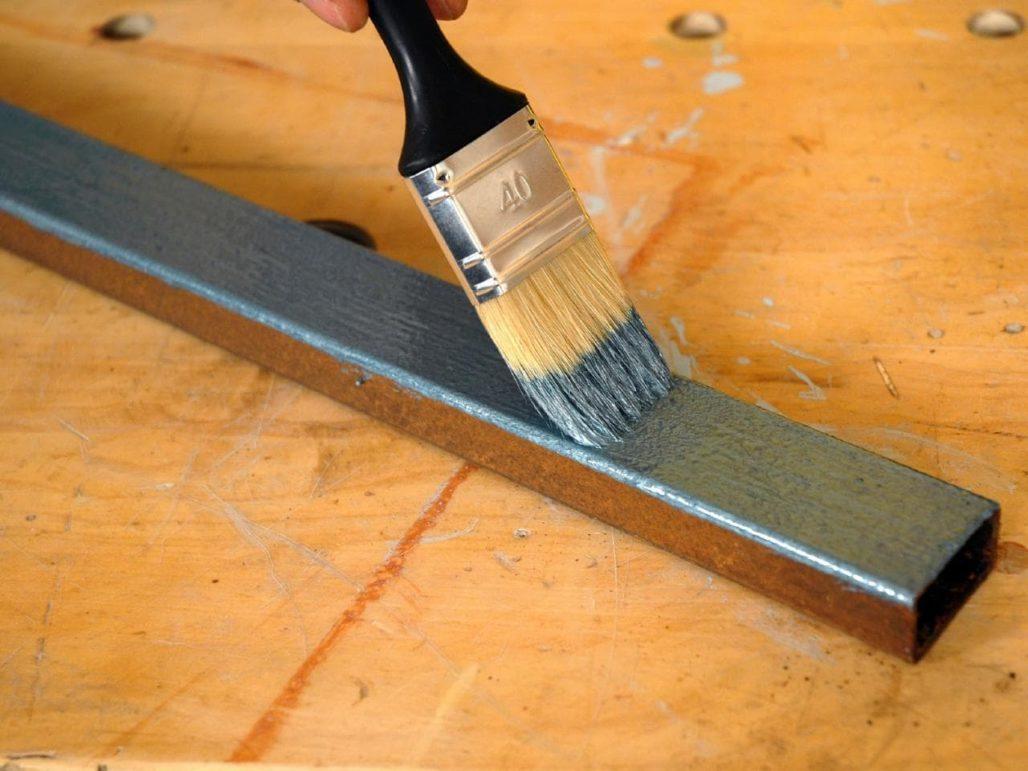 Расход краски на 1м2 по металлу.