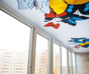 Натяжной потолок на балконе: виды, фото, плюсы и минусы.