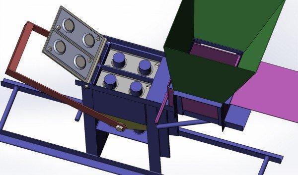Самодельный станок для изготовления кирпича лего.