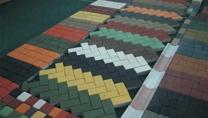Вибропрессованная тротуарная плитка — размер и вес, достоинства!