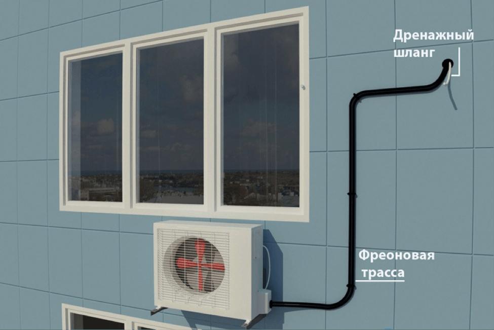Установка под окном
