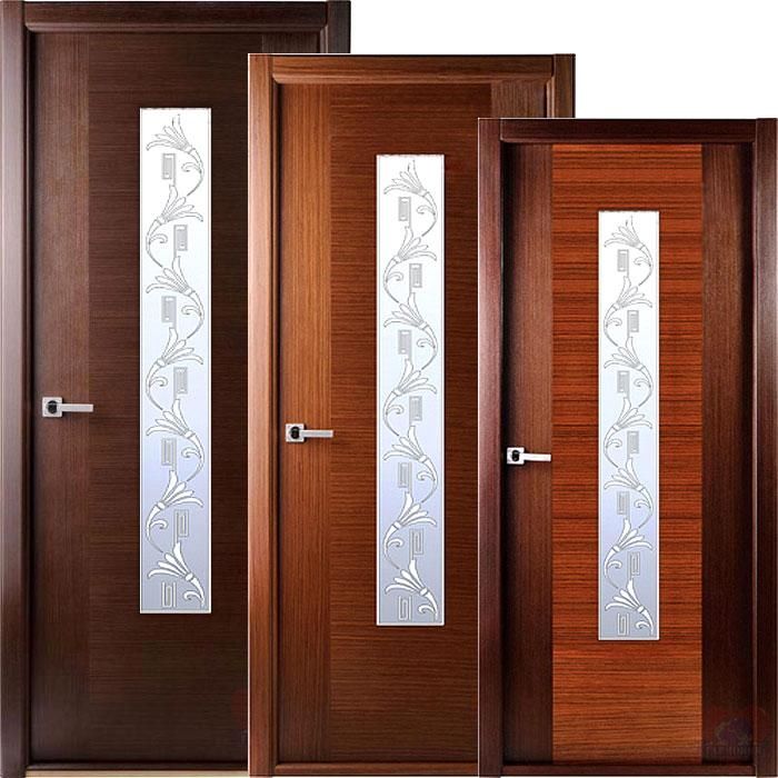 Варианты дверей из шпона