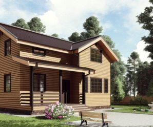 Проекты каркасных одно-двухэтажных домов 9 на 9 метров.