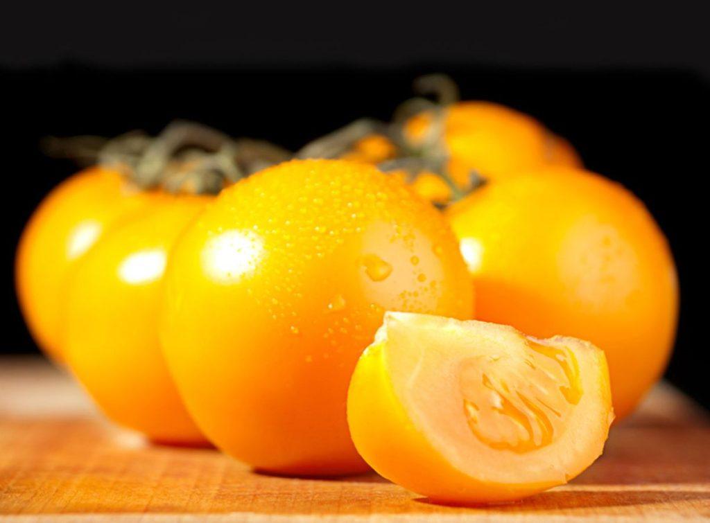 Полезные свойства желтых помидор.