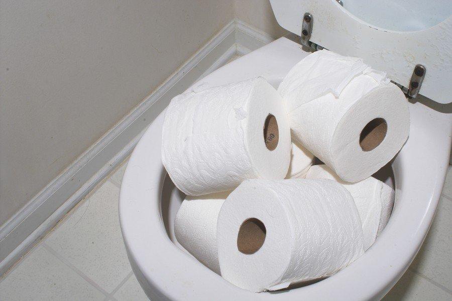 Туалетная бумага - унитаз.