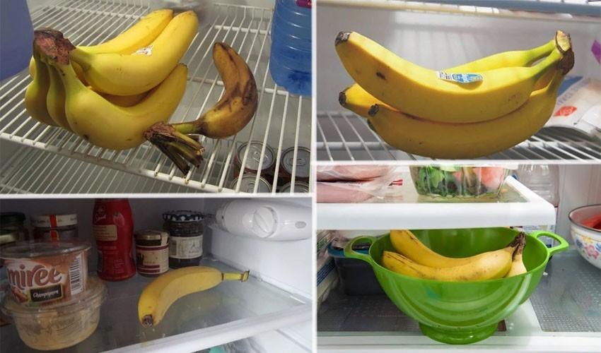 Банан в холодильнике