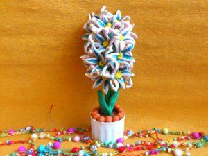 Цветок с пластилина