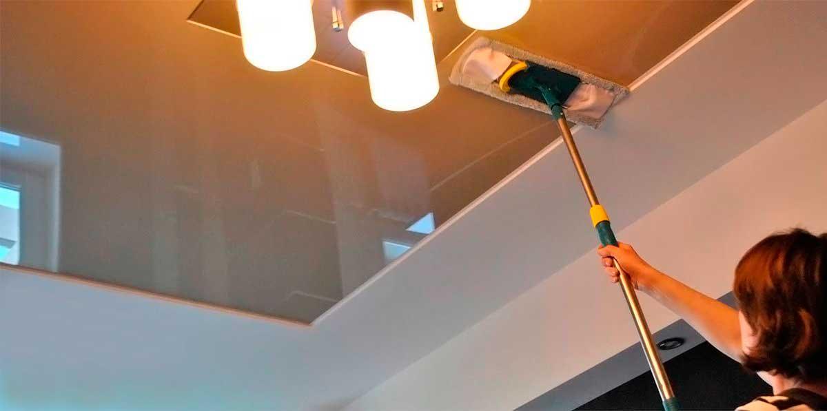 Уход за натяжными потолками своими руками