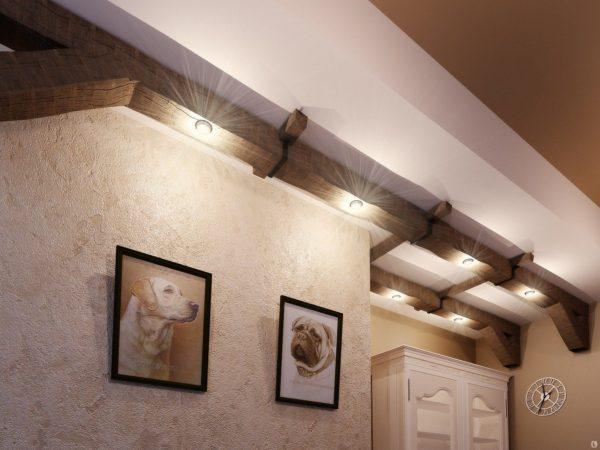 Декоративные балки на потолок из полиуретана