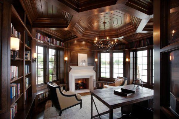 Декоративный потолок из дерева