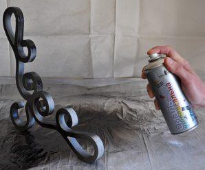 Сколько сохнет краска из баллончика на металле?