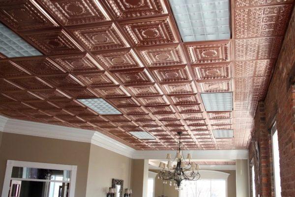 Плиты на потолок из пенопласта