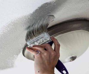 Как правильно проводится покраска потолка