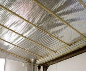 Каким должен быть потолок из утеплителя