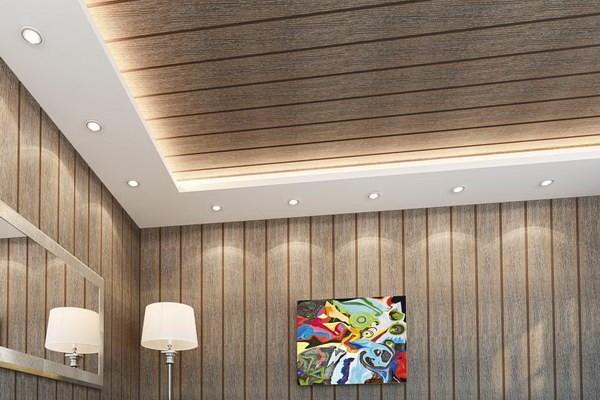 Сделать потолок из панелей пвх