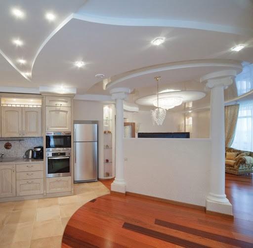 Разновидности конструкции белых потолков
