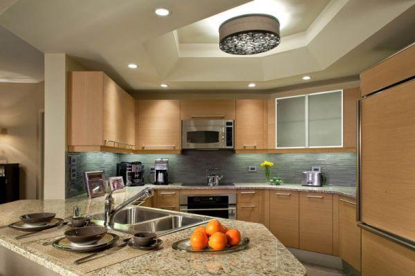 Варианты потолков из ГКЛ для кухни