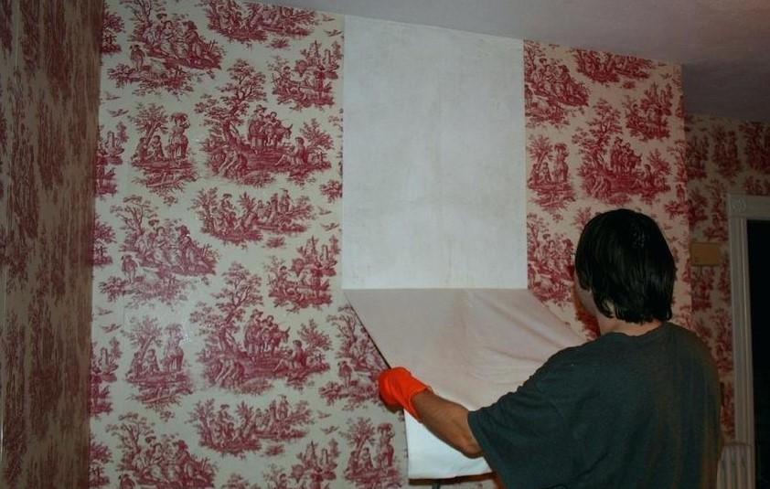 Удаления флизелиновых обоев со стен