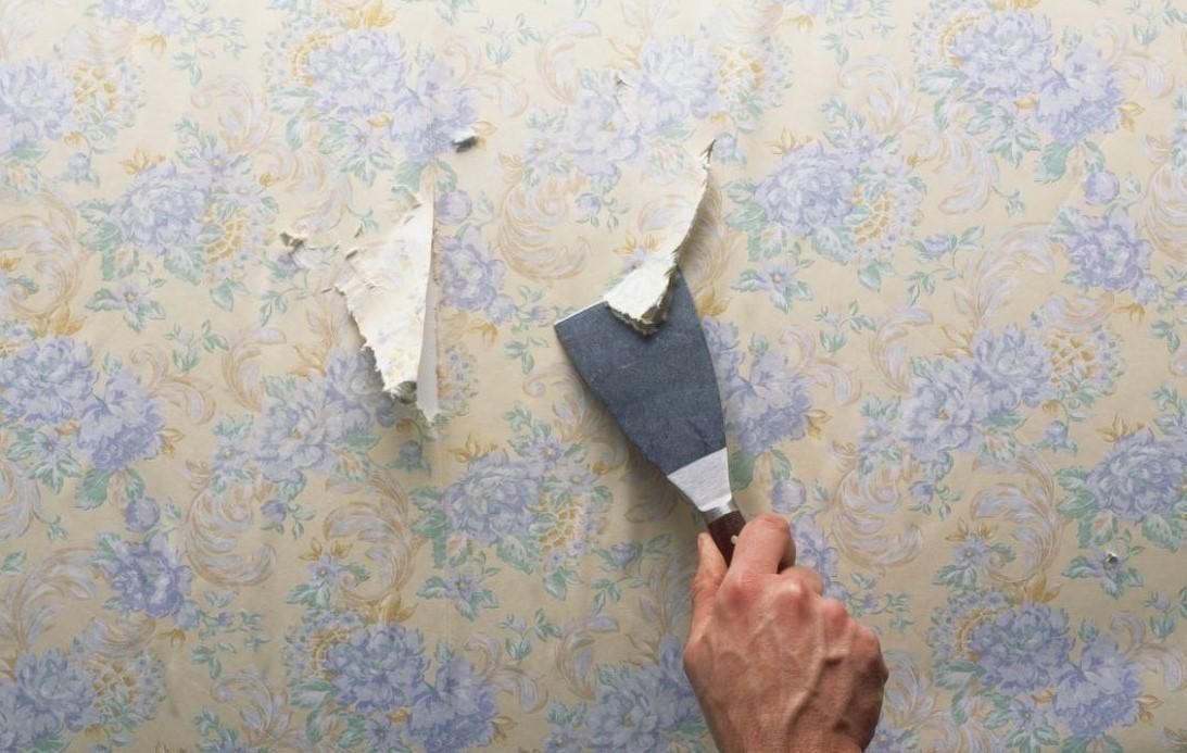 Удаления обоев со стен