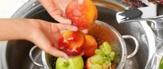 Правильное мытье фруктов и овощей