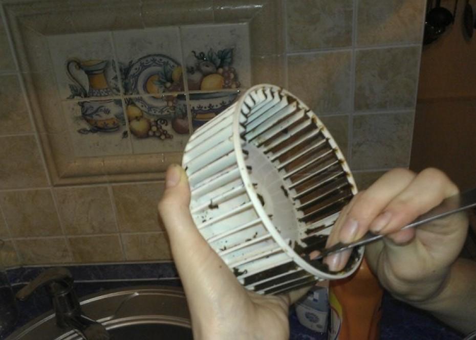 Чистка вентилятора вытяжки
