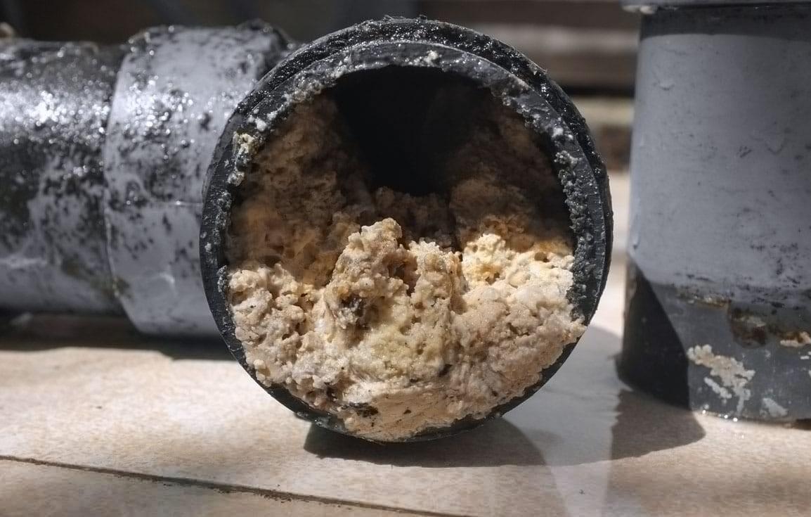 Механические засоры в трубах