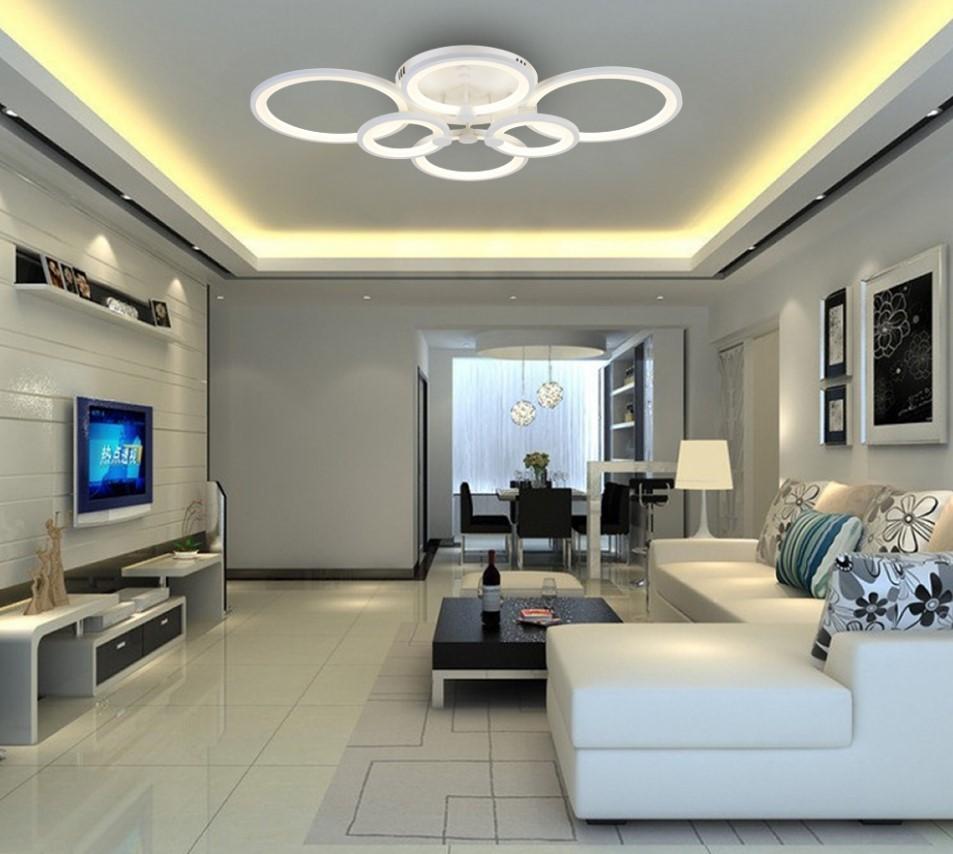 Разноуровневое осветление комнаты