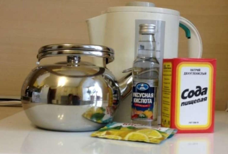 Очистка содой, уксусом и лимонной кислотой
