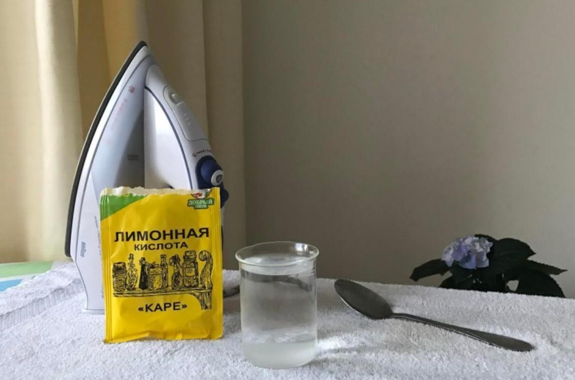 очистка утюга лимонной кислотой