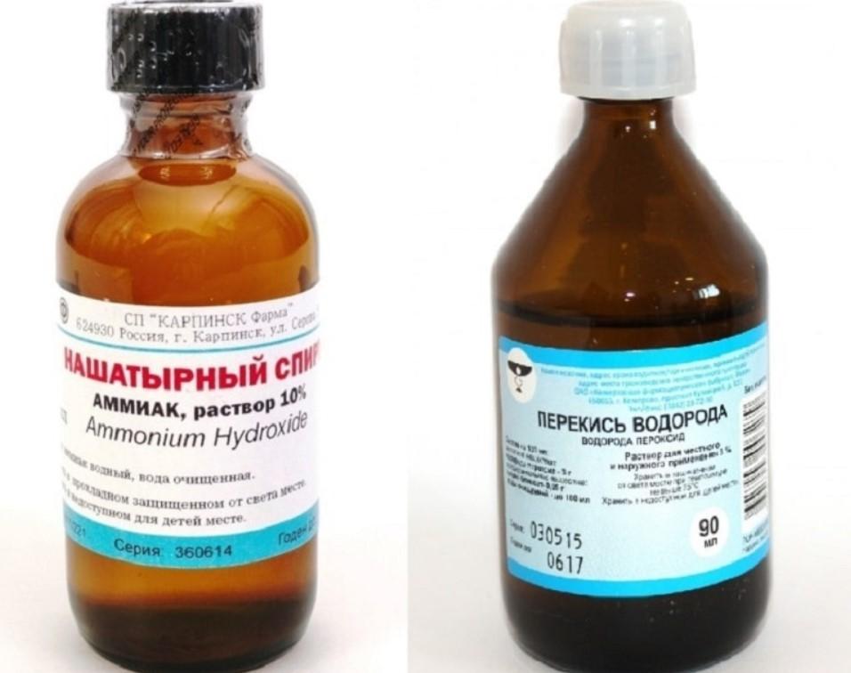 Нашатырный спирт и перекись водорода