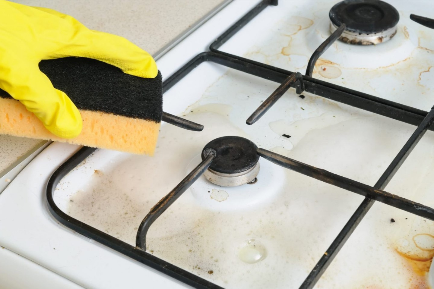 Очистка газовой плиты