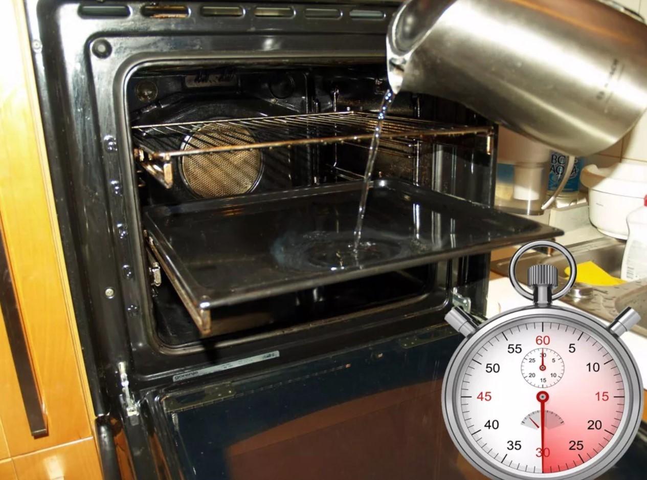 Нагрев воды в духовке