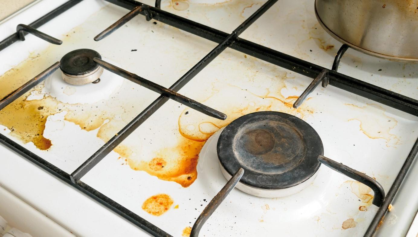 Очистка решетки газовой плиты