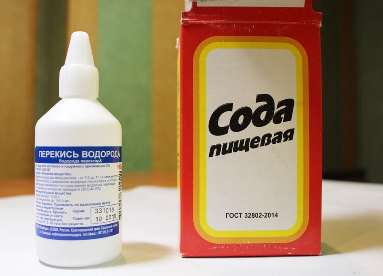 Сода с перекисью водорода