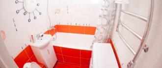 Современный дизайн ванной в хрущевке