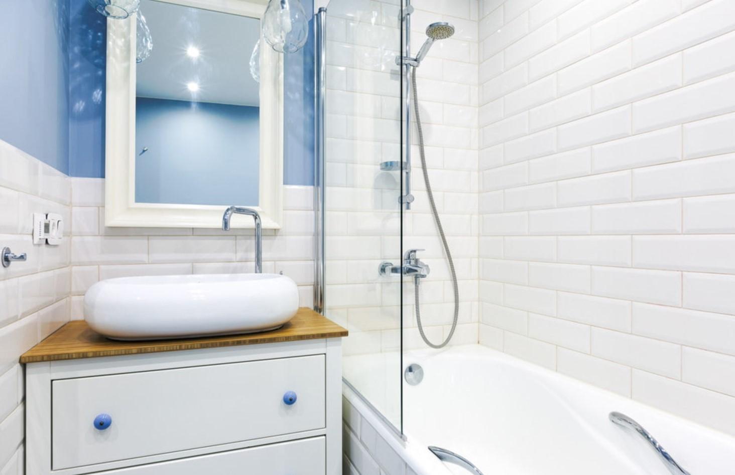 Белоснежная ванная в хрущевке