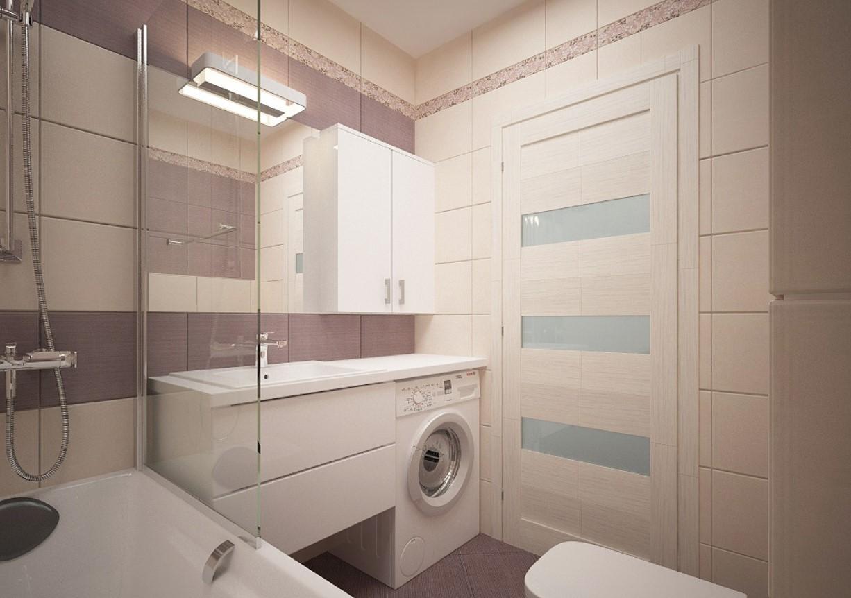 Ванная в пастельных цветах