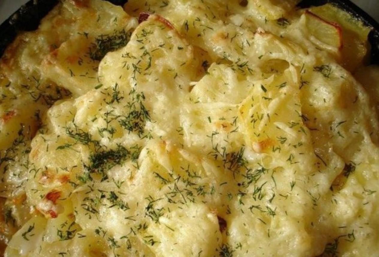 Картофель с сыром и зеленью