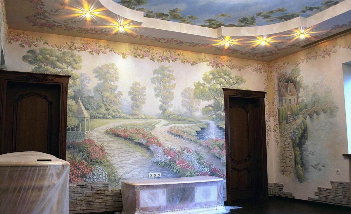 Настенные фрески на подложке
